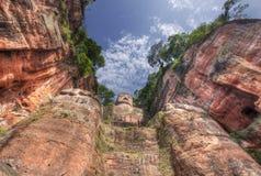 O buddah gigante de leshan Imagens de Stock