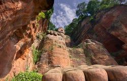 O buddah gigante de sichuan leshan fotografia de stock