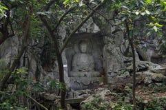 O buddha da área cênico de Lingyin Fotos de Stock