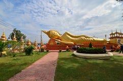 o buddha de sono no viengtein Laos Imagem de Stock Royalty Free