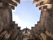 O buddha enfrenta no parque histórico de Tailândia Imagens de Stock Royalty Free