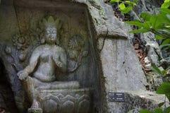 O buddha na área cênico de Lingyin Imagem de Stock