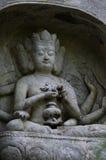 O buddha na área cênico de Lingyin Fotos de Stock Royalty Free