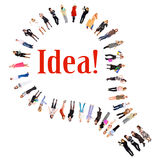 O bulbo é uma idéia! Imagens de Stock Royalty Free