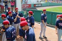 O Bullpen dos Minnesota Twins Fotografia de Stock