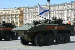 O Bumerangue o mais atrasado do BTR do russo no ensaio geral da parada da vitória em Moscou Imagem de Stock Royalty Free