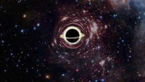 O buraco negro ilustração stock
