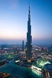 O Burj Khalifa em Dubai Fotos de Stock