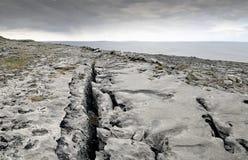 O Burren perto de Derreen, Eire ocidental fotos de stock royalty free