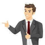 O bussinessman novo do sucesso manuseia acima Imagem de Stock Royalty Free