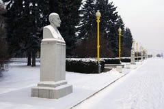 O busto de Michurin no quadrado da universidade em Moscou Fotografia de Stock