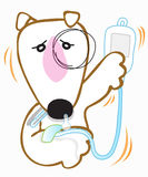 O cão bull terrier ficou doente ilustração royalty free