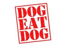 O cão come o cão ilustração do vetor