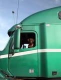 O cão como o condutor de camião Imagens de Stock Royalty Free