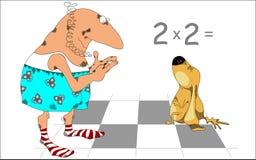 O cão do gênio da matemática, desenhos animados Foto de Stock Royalty Free