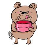 O cão pede o alimento Fotos de Stock Royalty Free