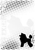 o cão pontilha o fundo do poster ilustração stock