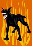 O cão preto do inferno Imagem de Stock Royalty Free