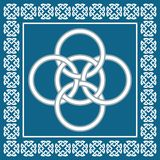O céltico cinco dobra o nó, simboliza uma integração de quatro elementos Foto de Stock Royalty Free