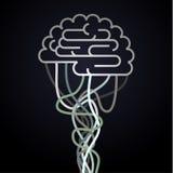O cérebro é conectado à rede Foto de Stock Royalty Free