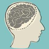 O cérebro e as ideias fluem Imagens de Stock Royalty Free