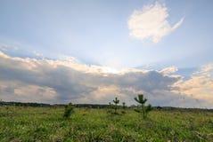 O céu é cancelado após a chuva fotografia de stock royalty free