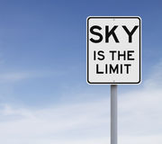 O céu é o limite Fotos de Stock