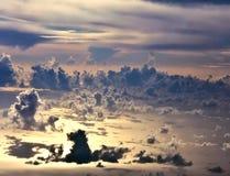 O céu abaixo Fotos de Stock