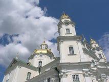 O céu acima de Pochaiv Fotos de Stock Royalty Free