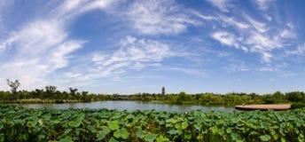 O céu azul do lago Shouxi Imagem de Stock