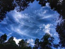 O céu azul no hdr Foto de Stock