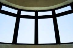 O céu azul para fora circunda o indicador da série fotos de stock