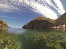 O céu bonito de Almeria fotografia de stock