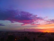 O céu colorido gosta de nossa vida Fotos de Stock