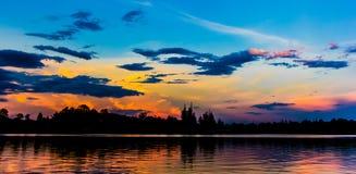 O céu da noite Fotografia de Stock