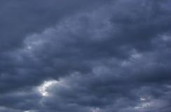 O céu da tempestade foto de stock