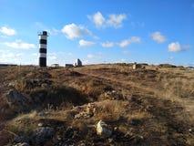 O céu de sevastopol do sol do verão de Crimeia nubla-se a viagem imagem de stock