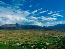 O céu do vale de Lasithi Foto de Stock
