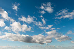 O céu e as nuvens Foto de Stock
