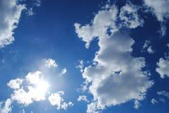 O céu e o sol Fotografia de Stock Royalty Free