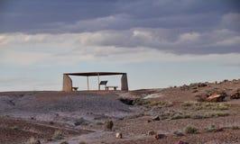 O céu e a terra no parque fóssil imagem de stock