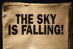 O céu está caindo Fotografia de Stock Royalty Free