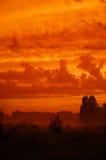 O céu gosta do incêndio Foto de Stock Royalty Free