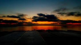O céu na cor avermelhada Imagem de Stock Royalty Free
