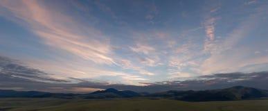 O céu na manhã Fotos de Stock Royalty Free