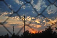O céu na rede de pesca imagem de stock