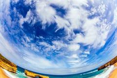 O céu nebuloso do hemisfério sul fotos de stock royalty free