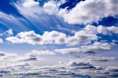O céu no por do sol Imagem de Stock