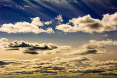 O céu no por do sol Fotos de Stock