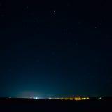O céu noturno real natural Stars a textura do fundo Imagem de Stock Royalty Free
